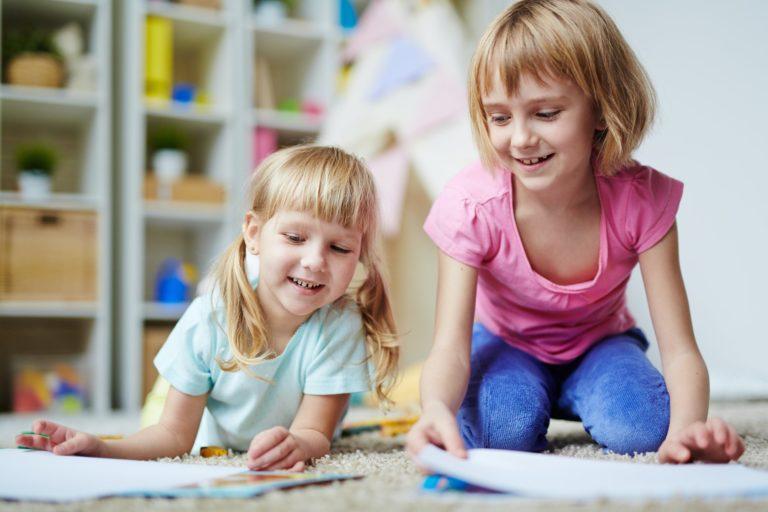 Girls in kindergarten